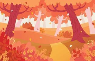 fond plat d'automne vecteur