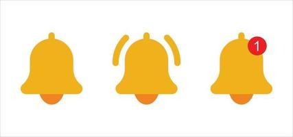 jeu d'icônes de cloche, vecteur d'icônes de cloche, logo de cloche