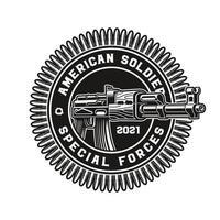 un vecteur illustration d'un fusil ak47