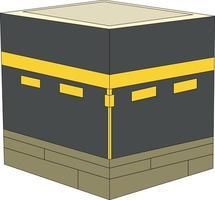 conception vectorielle de musulmans faisant le hajj à la mecque vecteur