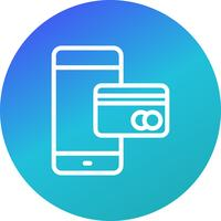 Services bancaires mobiles Vector Icon