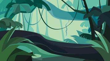 forêt tropicale dense. vecteur