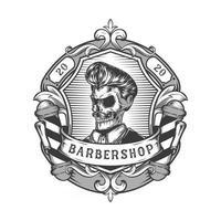 création de logo de salon de coiffure vintage vecteur