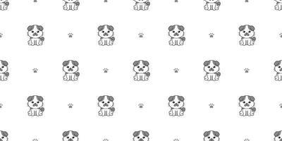 vecteur, dessin animé, caractère, mignon, chat, seamless, modèle, fond vecteur