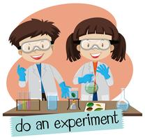 Scientifique faisant des expériences en laboratoire