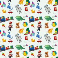 Modèle sans couture de jouets pour enfants vecteur
