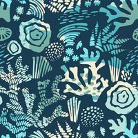Modèle sans couture de mer de vecteur avec des textures dessinées à la main