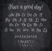 Illustration vectorielle de l'alphabet à la craie. vecteur