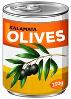 Boîte d'olives kalamata