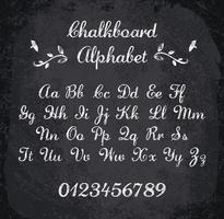 Illustration vectorielle de l'alphabet à la craie vecteur