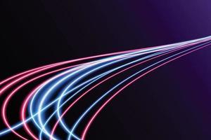 traînées de lumière colorées abstraites avec effet de flou de mouvement. fond de vitesse. conception de concept léger. illustration vectorielle vecteur