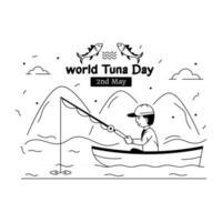 journée mondiale du thon vecteur
