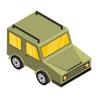 jeep et véhicule militaire vecteur