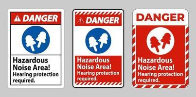 panneau de danger zone de bruit dangereux, protection auditive requise vecteur