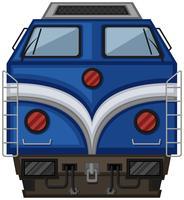 Conception du train bleu sur fond blanc