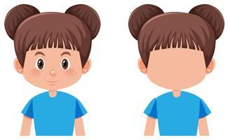 Une fille brune cheveux cheveux