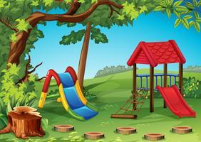 Aire de jeux dans le parc vecteur