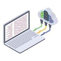 notions de cloud computing vecteur