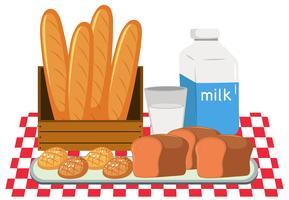 Ensemble pain et lait