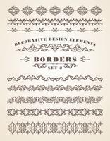 Frontières d'ornements de vecteur. Éléments de design décoratifs.