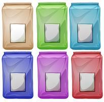 Ensemble de pochettes colorées