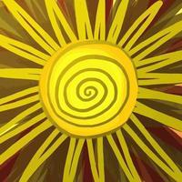 soleil peint en jaune shabby chic vecteur
