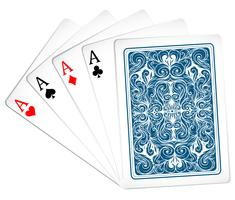 Carte de poker vecteur