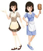 Personnage de ménage avec uniforme vecteur