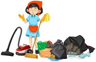 Nettoyeur encombré de déchets