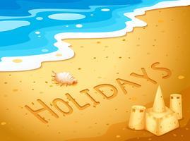 Vacances à la plage vecteur