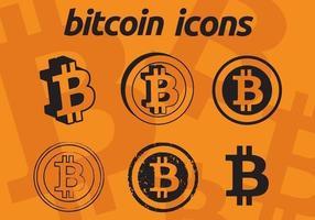 Icônes vectorielles Bitcoin vecteur