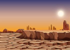 Paysage de désert sec vecteur