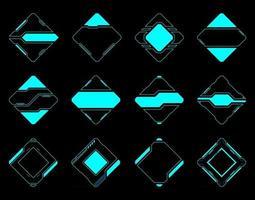 interface utilisateur futuriste de la technologie hud de cadre abstrait. vecteur