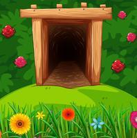 Tunnel dans la brousse vecteur