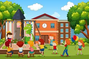 Une scène de jeu d'enfants vecteur