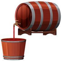 Un vecteur de tonneau de vin rouge