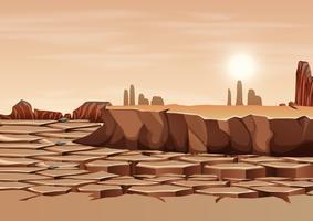 Un paysage de terre sèche vecteur