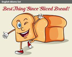 Un pain en tranches vecteur