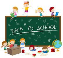 Concept de retour à l'école vecteur