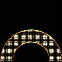 illustration vectorielle de cadre brillant doré vecteur