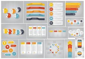 modèles d'infographie pour l'illustration vectorielle d'affaires. eps10 vecteur