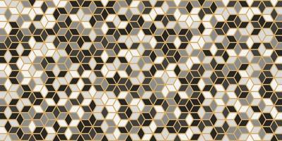 forme carrée abstraite géométrique sans couture avec ligne d'or vecteur