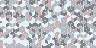 motif géométrique abstrait sans couture avec fond de couleur cube pastel de forme carrée vecteur