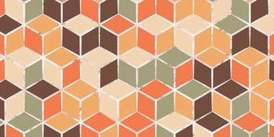 motif géométrique abstrait sans couture avec forme carrée de cube vecteur
