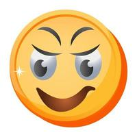 smiley et rire emoji vecteur