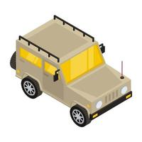 jeep de l'armée et transport vecteur