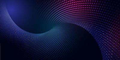 bannière abstraite avec conception de particules cyber vecteur
