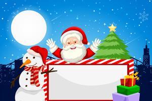 Cadre vide sur le thème du père Noël et des vacances vecteur