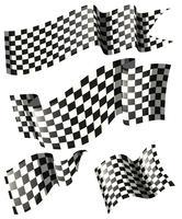 Drapeaux de course dans différents styles vecteur