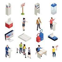 icônes d'élections définies illustration vectorielle vecteur